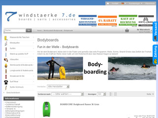 Bodyboard Shop Windstaerke7