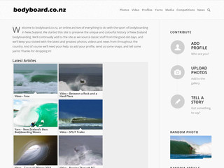 Details : New Zealand Bodyboarding